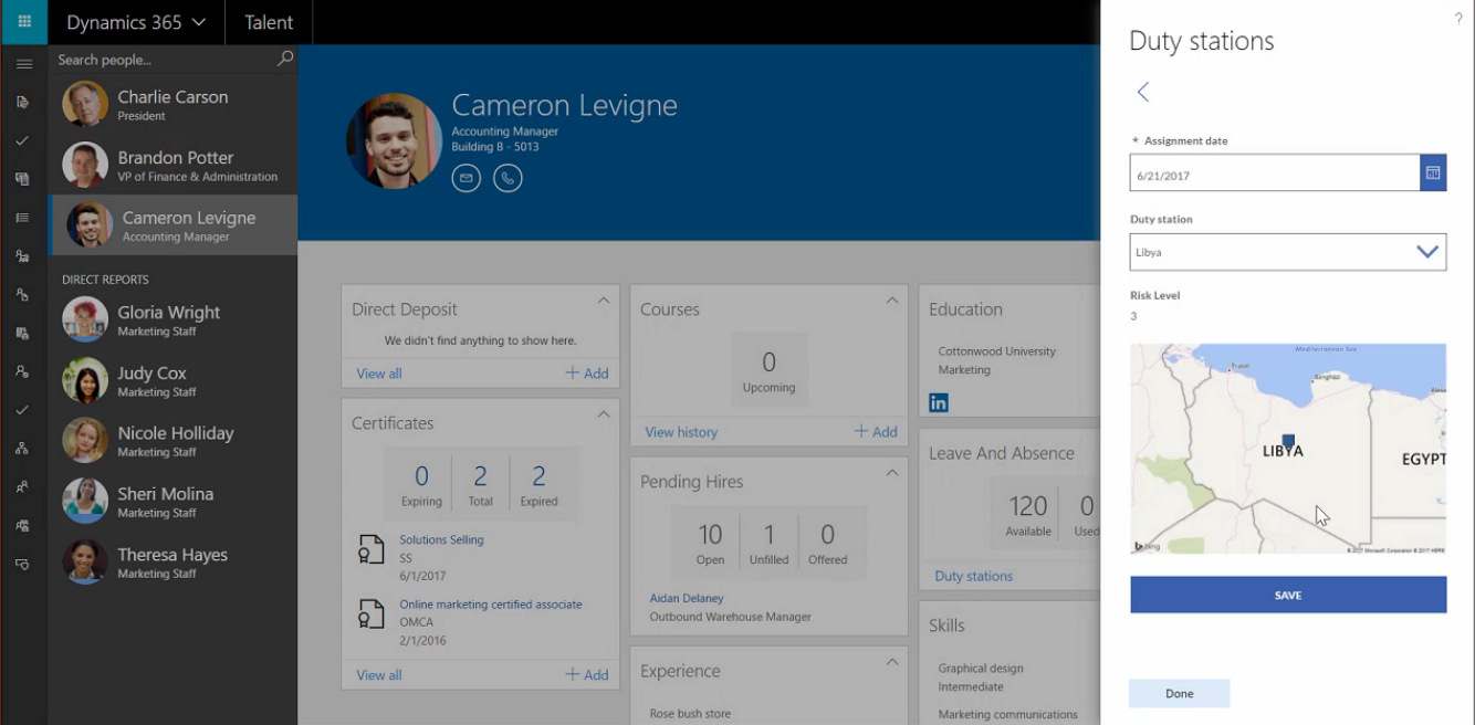 Dynamics 365 for Talent Power Apps Integration